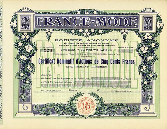 France-Mode Société Anonyme [2 Stück]