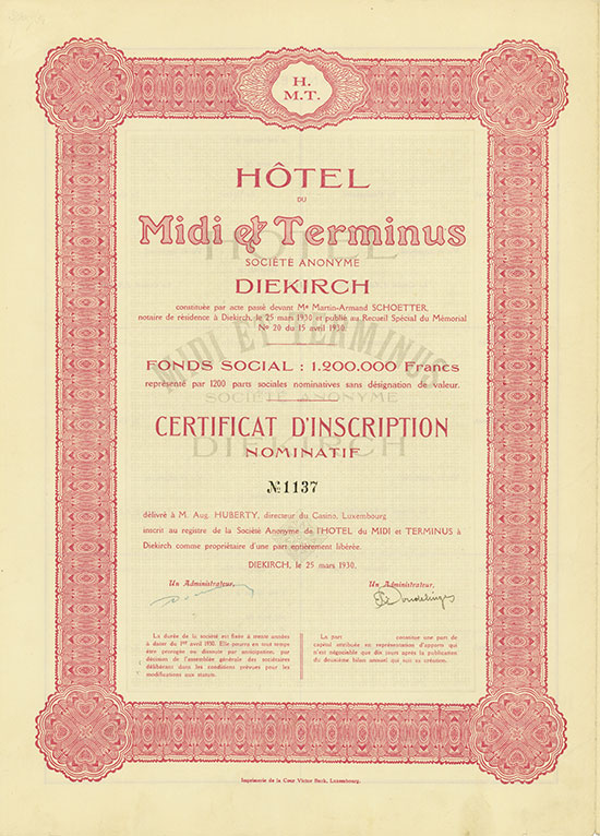 Hotel du Midi & Terminus Société Anonyme