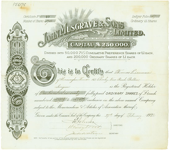 John Musgrave & Sons Limited