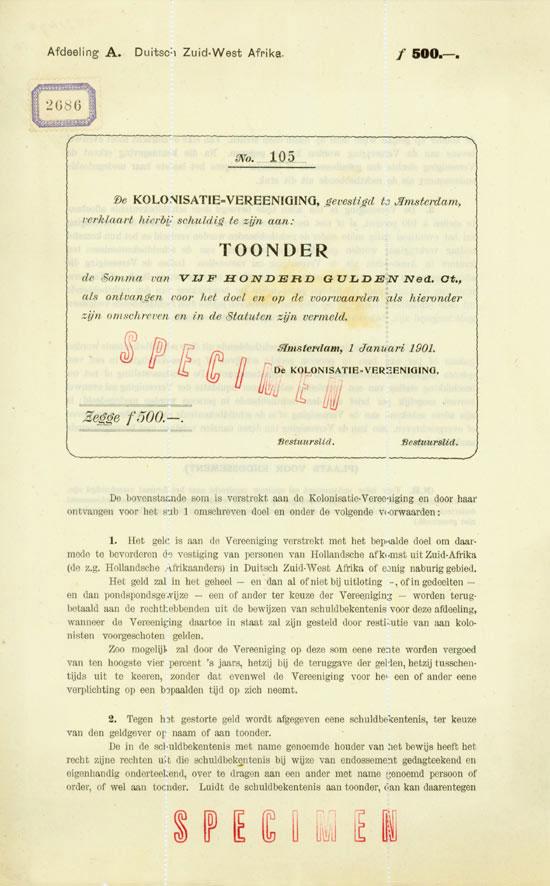 Kolonisatie-Vereeniging / Duitsch-Zuid-West Africa
