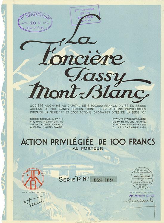 La Foncière Passy Mont-Blanc Société Anonyme [3 Stück]