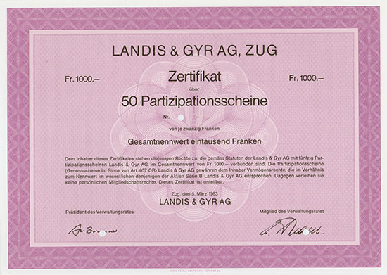 Landis & Gyr AG