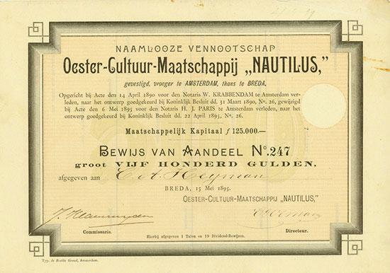 Naamlooze Vennootschap Oester-Cultuur-Maatschappij