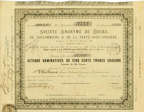 Société Anonyme de Docks de Coulommiers & de la Ferté-sous-Jouarre