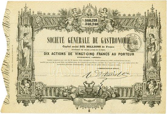 Société Générale de Gastronomie