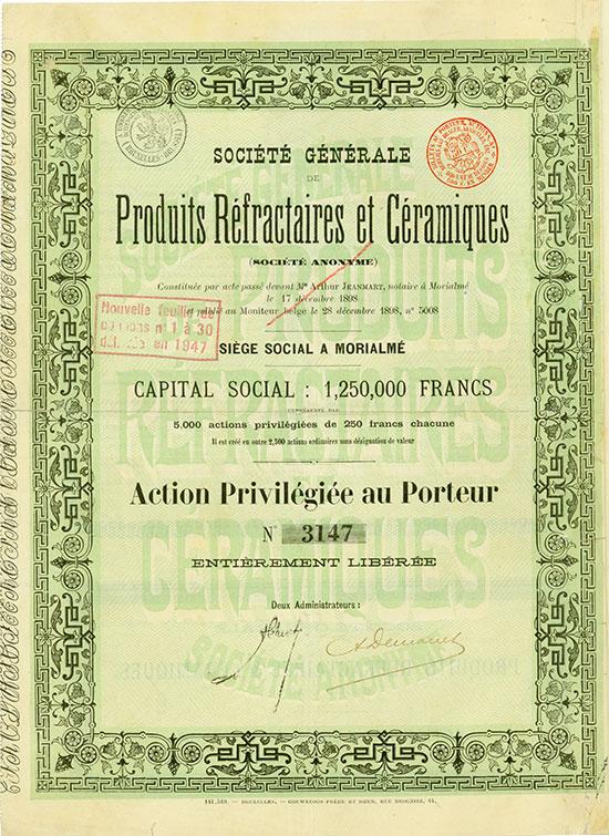 Société Générale de Produits Réfractaires et Céramiques (Société Anonyme)