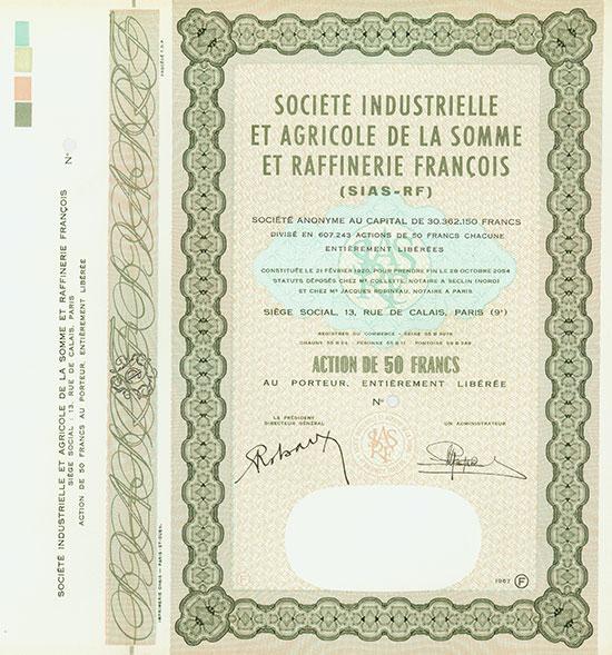 Société Industrielle et Agricole de la Somme et Raffinerie Francois (Sias-RF)