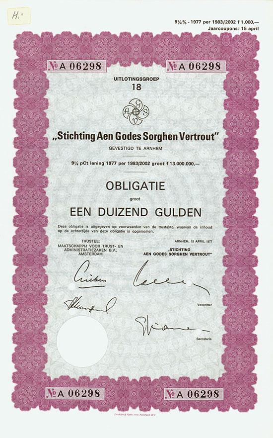Stichting Aen Godes Sorghen Vertrout