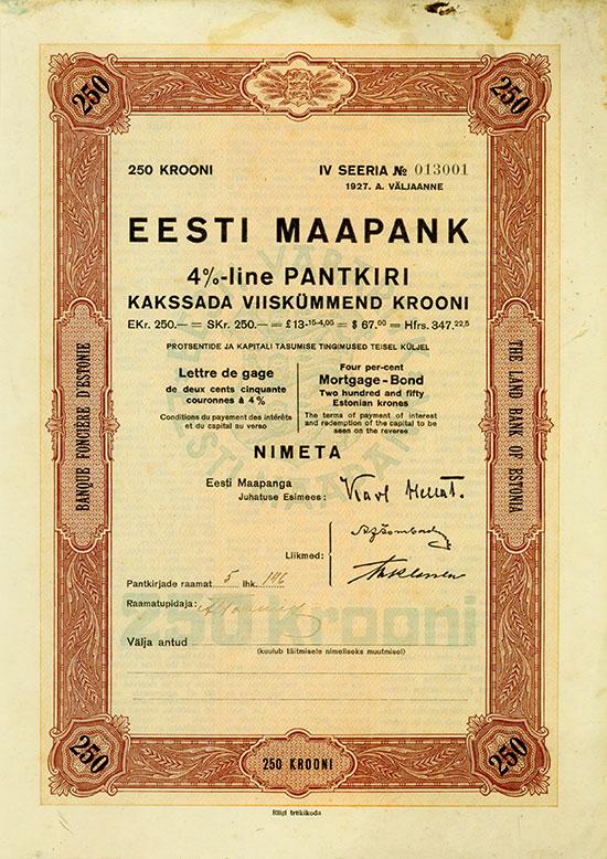 Eesti Maapank / Land Bank of Estonia