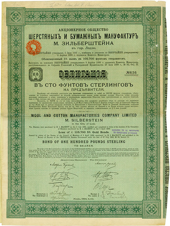 Wool and Cotton Manufactories Company Limited M. Silberstein