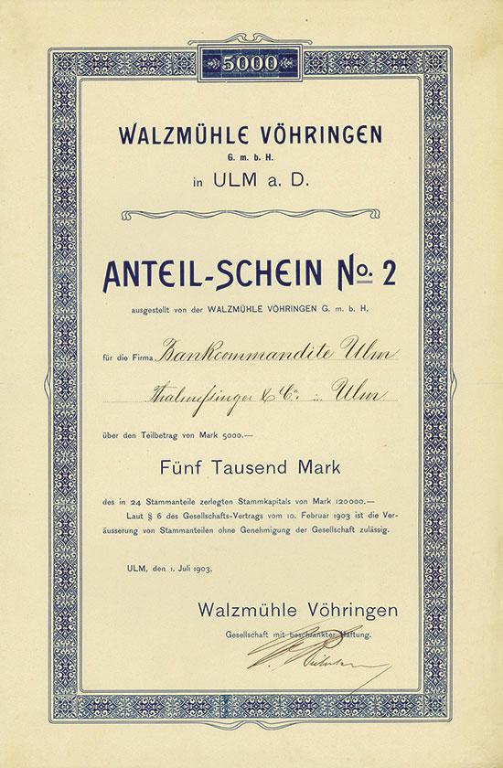 Walzmühle Vöhringen GmbH