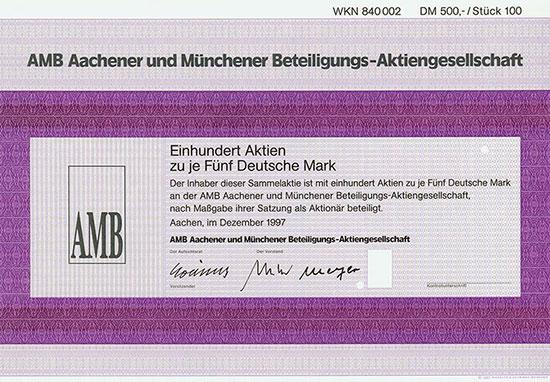 AMB Aachener und Münchener Beteiligungs-AG [3 Stück]