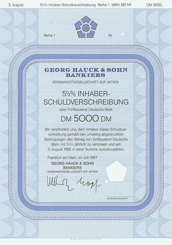 Georg Hauck & Sohn Bankiers KGaA