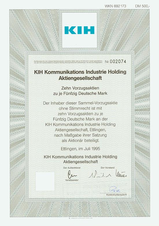 KIH Kommunikations Industrie Holding AG [2 Stück]