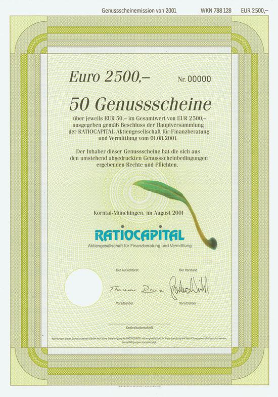 Ratiocapital Aktiengesellschaft für Finanzberatung und Vermittlung