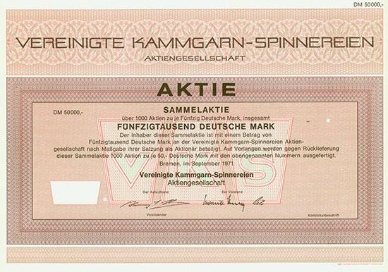 Vereinigte Kammgarn-Spinnereien AG