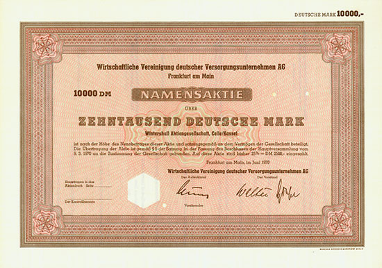 Wirtschaftliche Vereinigung deutscher Versorgungsunternehmen AG