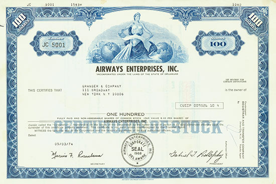 Airways Enterprises, Inc.