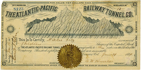 Atlantic-Pacific Railway Tunnel Company
