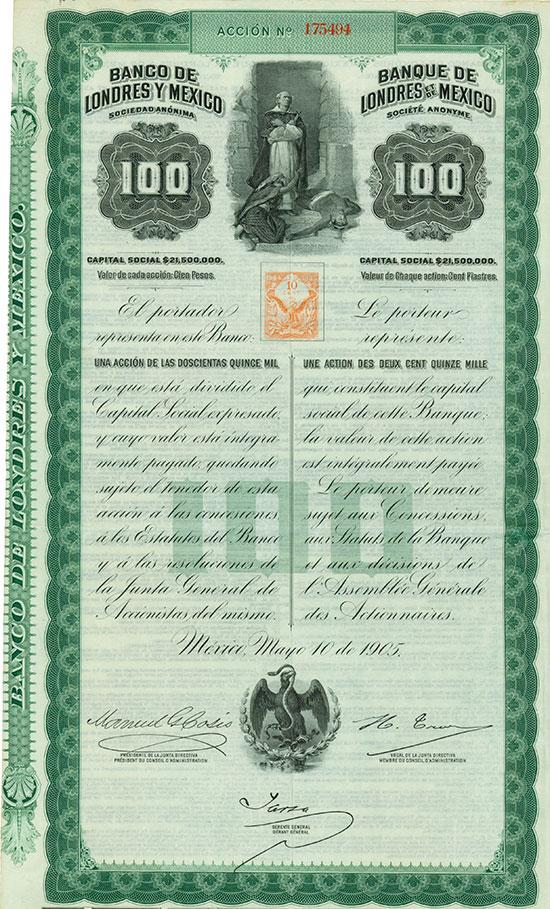 Banco de Londres y Mexico Sociedad Anónima / Banque de Londres et de Mexico Société Anonyme