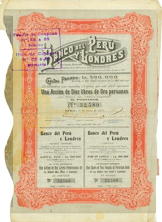 Banco del Peru y Londres Sociedad Anónima