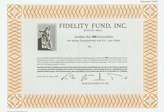 Fidelity Fund, Inc. / Bank Julius Bär & Co. AG