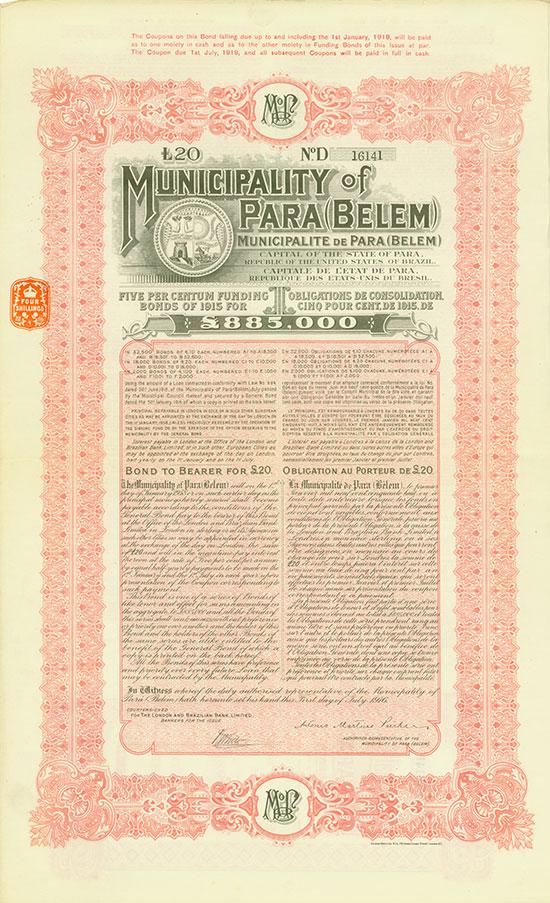 Municipality of Pará (Belem)