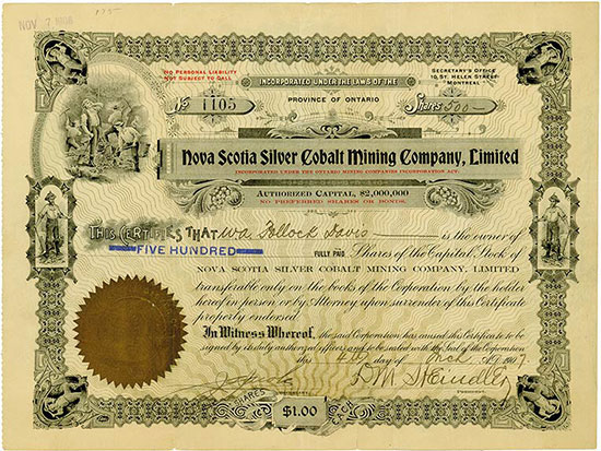 Nova Scotia Silver Cobalt Mining Company, Limited