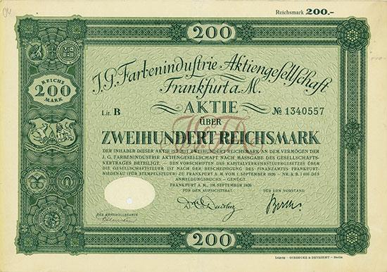 I.G. Farbenindustrie AG [3 x 10 Stück]