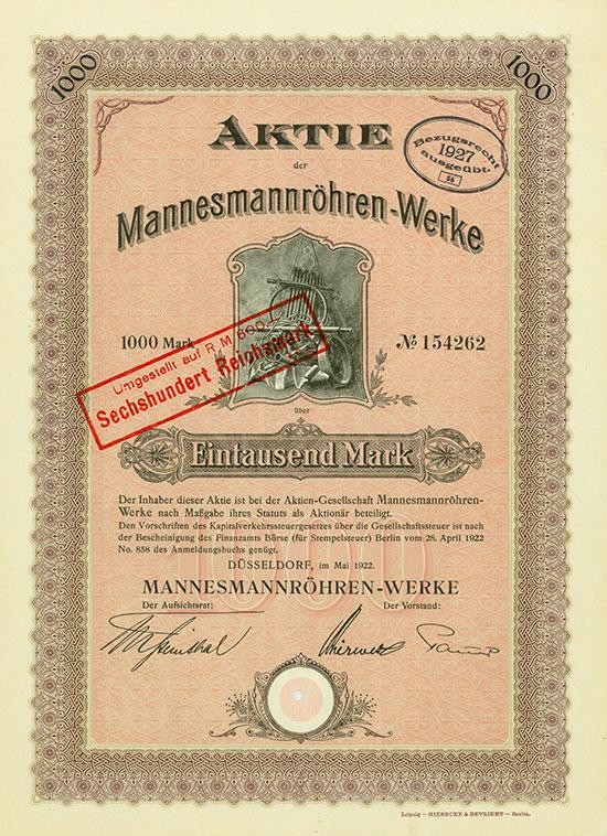 Mannesmannröhren-Werke [46 Stück]