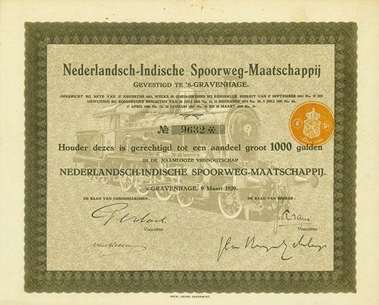 Nederlandsch-Indische Spoorweg-Maatschappij [7 Stück]