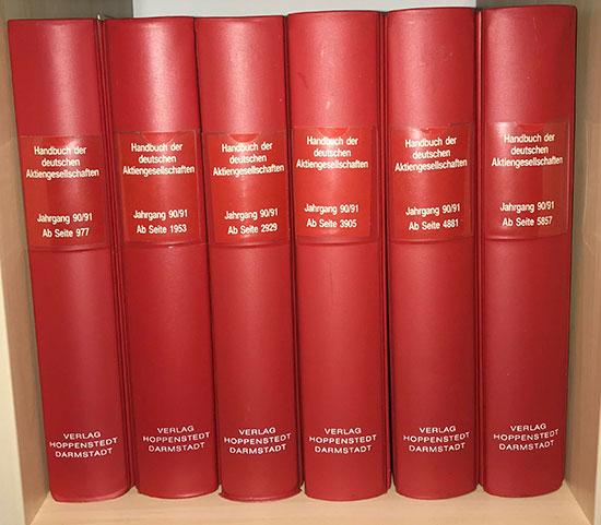 Handbuch der deutschen Aktiengesellschaften 1990/91