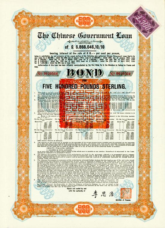 Chinese Government (Skoda Loan II, KU 704 C)