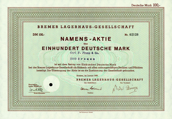 Bremer Lagerhaus Gesellschaft Aktie