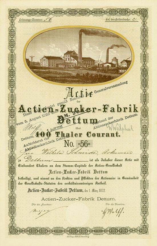 Actien-Zucker-Fabrik Dettum