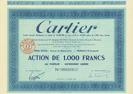 Cartier Société Anoynme Monégasque