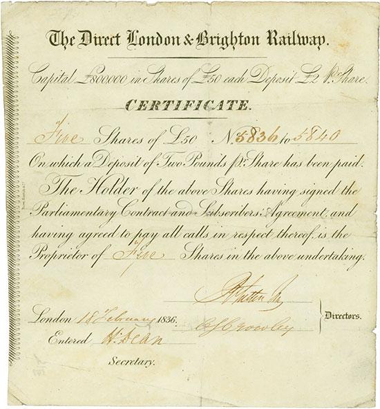 Direct London & Brighton Railway