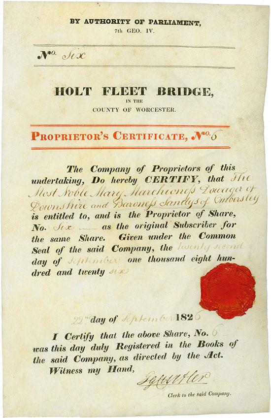 Holt Fleet Bridge in the County of Worcester
