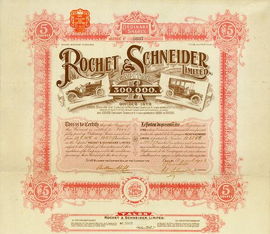 Rochet & Schneider, Limited