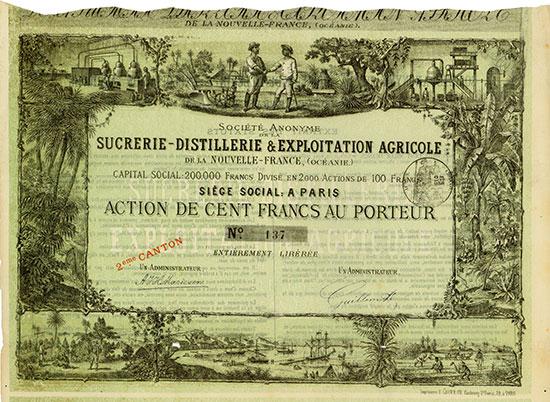 Société Anonyme de la Sucrerie-Distillerie & Exploitation Agricole de la Nouvelle-France (Océanie)