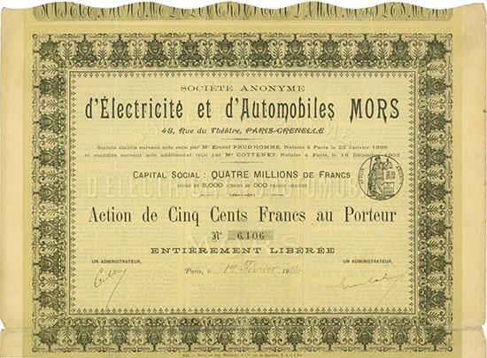 Société Anonyme d'Électricité et d'Automobiles Mors
