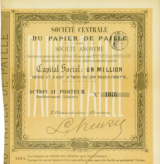 Société Centrale du Papier de Paille