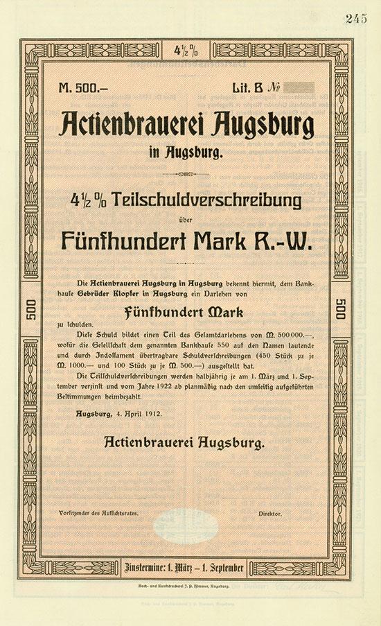 Actienbrauerei Augsburg