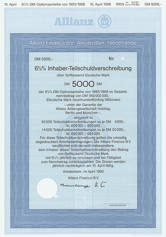 Allianz Finance B. V.