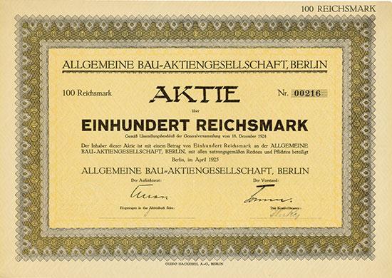 Allgemeine Bau-AG