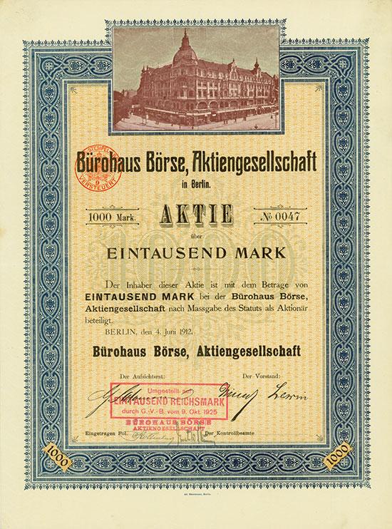 Bürohaus Börse AG