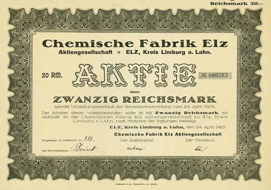 Chemische Fabrik Elz AG