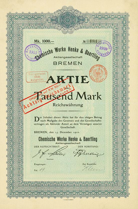 Chemische Werke Henke & Baertling AG