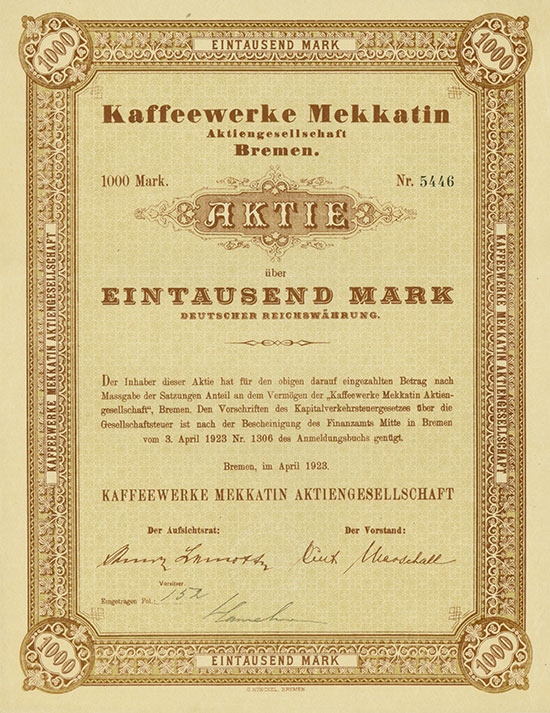 Kaffeewerke Mekkatin AG [MULTIAUKTION 3]