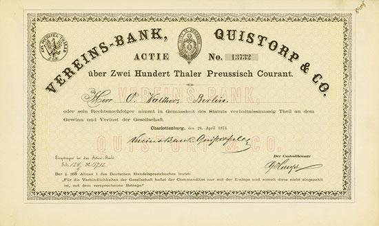 Vereins-Bank Quistorp & Co.